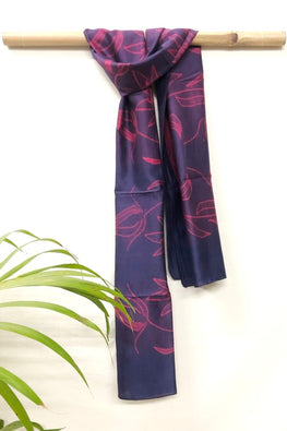 MURA SHIBORI HANDCRAFTED PINK PURPLE HEAVY CHANDERI STOLE