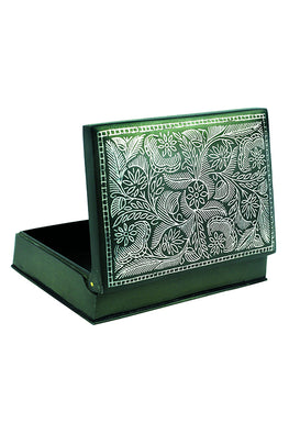 "`Bidri` Handcrafted Box 5"" Lala Work"
