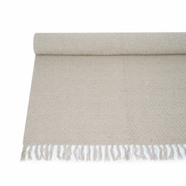 Handwoven Cotton Yoga Mat (Beige)