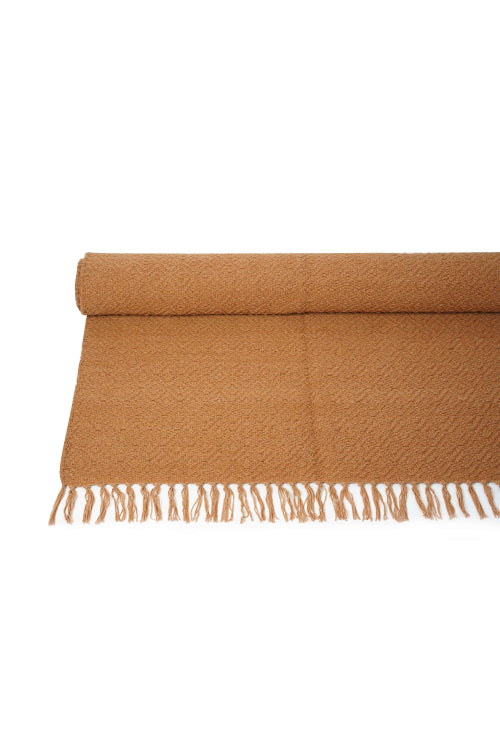 Handwoven Cotton Yoga Mat-(Tan)