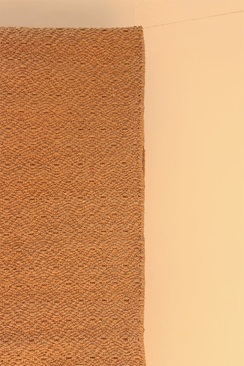 "Handwoven Cotton Runner - 60"" (Tan)"