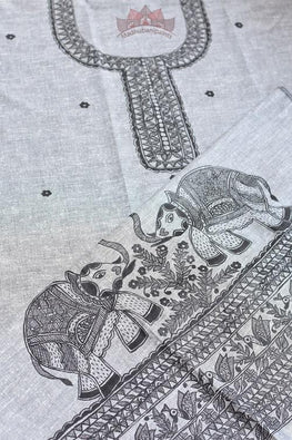 Happy Hathi hand painted madhubani painting kurti online