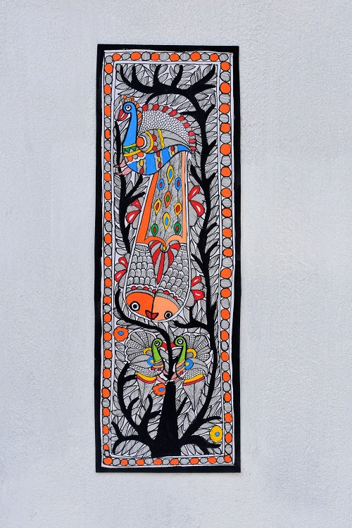 Peacock on tree Wall Hanging