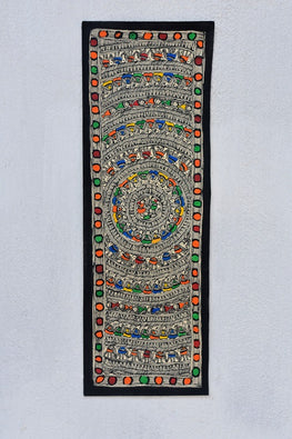 Detailed Godhna Madhubani Wall hanging
