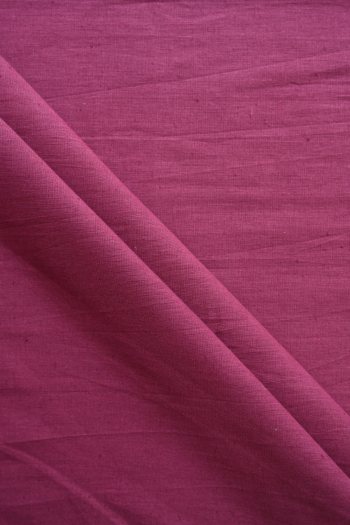 MORALFIBRE Handwoven Mulberry Plain Cotton Dyed Fabric Online