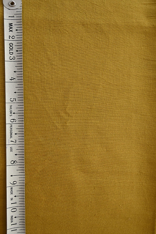 MORALFIBRE 100% Cotton Hand Spun Handwoven 'Mustered' Plain Dyed Fabric (0.5 Meter)