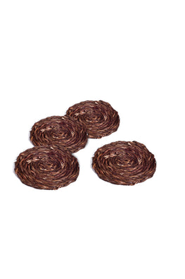 Handmade Sabai Grass Coaster set of 4 (Brown)
