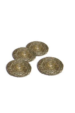 Handmade Sabai Grass Coaster set of 4 (Natural)