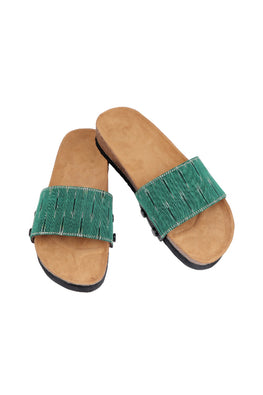 Murtle 'Eazy Bolarum Green' Natural Cork Sole Sliders