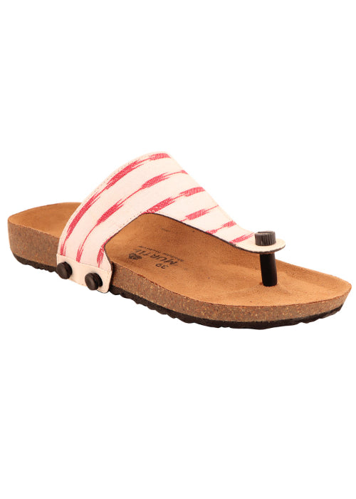 Murtle 'Peace Red' Hand Woven Ikat Pure Cotton Straps for Murtle
