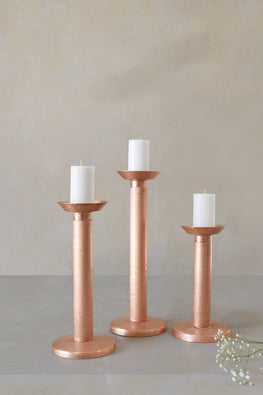 Okhai Megalith Copper Handmade Candle Stand Online Pillar Candle Holder