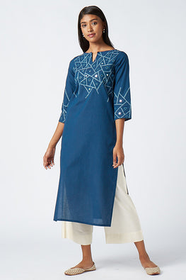 Okhai 'Melody' Embroidered Cotton Kurta