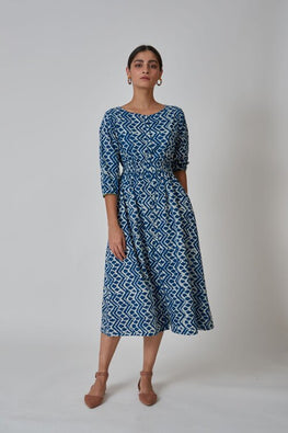 Summer Dress With Bobbin Elastic at Waist