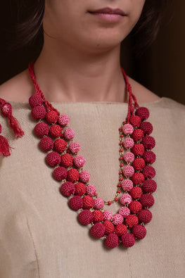 Samoolam Aadya Necklace ~ Red Ombre