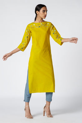 Okhai 'Abundance' Embroidered Cotton Kurta