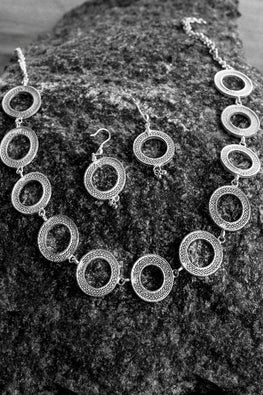 Silver Linings Rings Handmade Silver Filigree Necklace Set Online