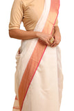 Lal10 Silk Cotton Maheshwari Handwoven Saree