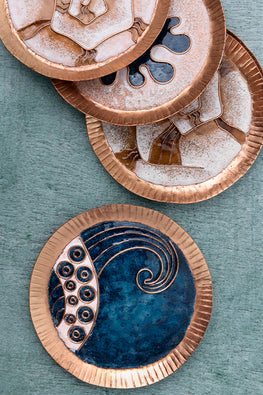 OCEAN PEARL COASTER SET OF THREE