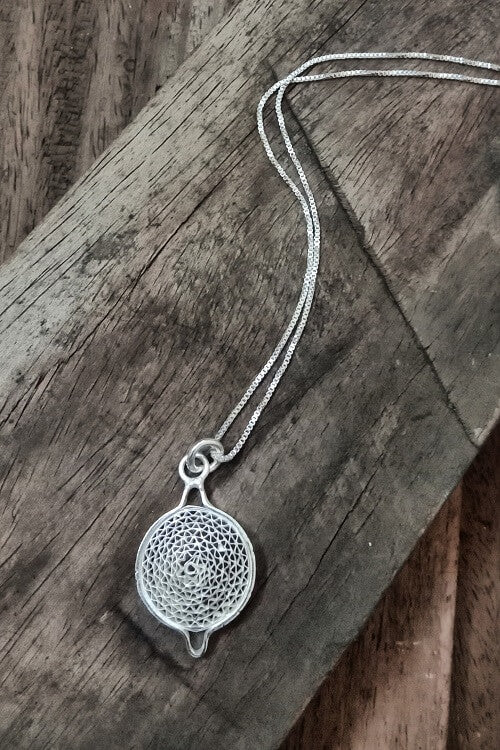 Silver Linings Moon Handmade Silver Filigree Chain With Pendant Online
