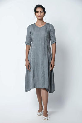 Lava Grey Panel Dress