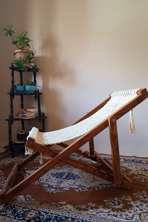 Macramé Lounge Chair