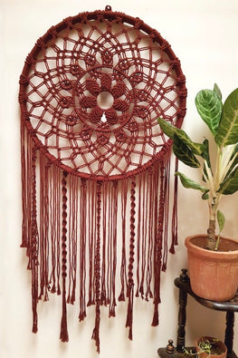 Mandala Dream Catcher - Wine Red
