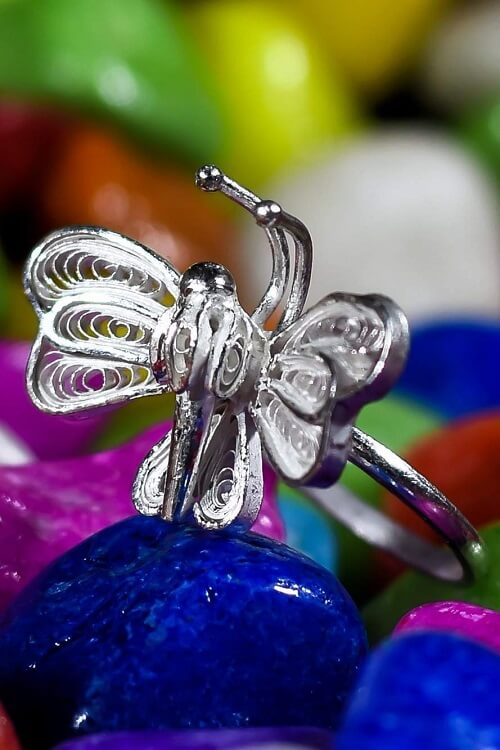 "Silver Linings ""Titli"" Silver Filigree Handmade Ring"