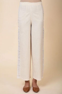 Kora Straight pants with side emb panel