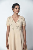 Beige Overlap Dress