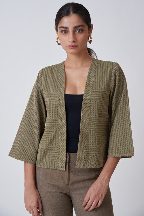 Okhai Olive Short Jacket For Women Online