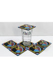 Tikuli-Art-Hand-Painted-Round-and-Square-Coaster-set-of-six-with-Stand-2
