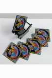 Tikuli-Art-Hand-Painted-Round-and-Square-Coaster-set-of-six-with-Stand-5