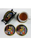 Tikuli-Art-Hand-Painted-Round-and-Square-Coaster-set-of-six-with-Stand-6