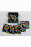 Tikuli-Art-Hand-Painted-Round-and-Square-Coaster-set-of-six-with-Stand-11