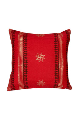 Block Printing with Hand Embroided  Cushion Cover-5
