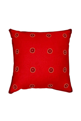 Block Printing with Hand Embroided  Cushion Cover-6