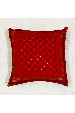 Block Printing with Hand Embroided  Cushion Cover-7