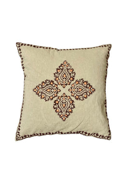 Block Printing with Hand Embroided  Cushion Cover-8