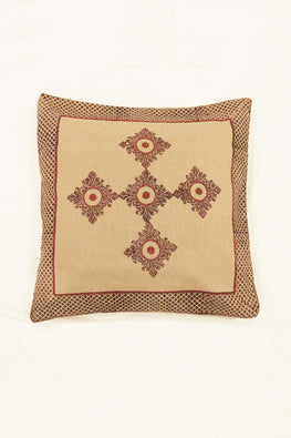 Block Printing with Hand Embroided  Cushion Cover-10