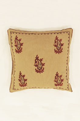 Block Printing with Hand Embroided  Cushion Cover-11