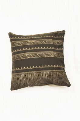 Block Printing with Hand Embroided  Cushion Cover-1