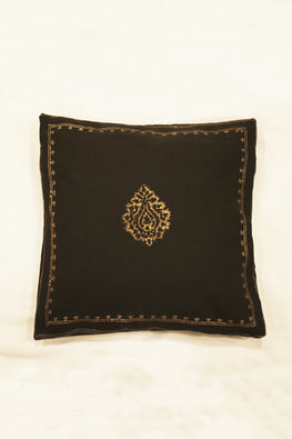 Block Printing with Hand Embroided  Cushion Cover-2