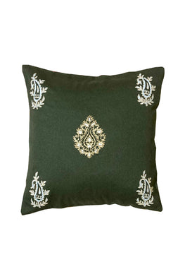 Block Printing with Hand Embroided  Cushion Cover-3
