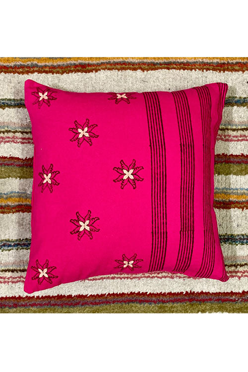 Block Printing with Hand Embroided  Cushion Cover-12