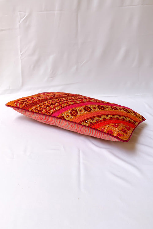 "Shrujan Pakko Embroidery Cushion Cover (8"" X 16"")-20"