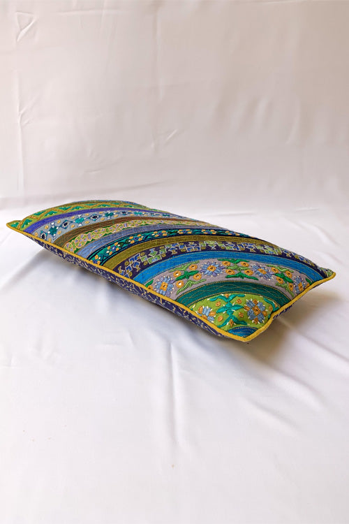 "Shrujan Mix Embroidery Cushion Cover (8"" X 16"")-22"
