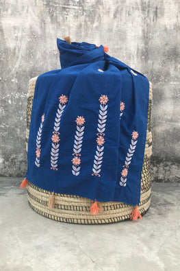 Samuday Crafts Traditional Chikankari Cotton Stole