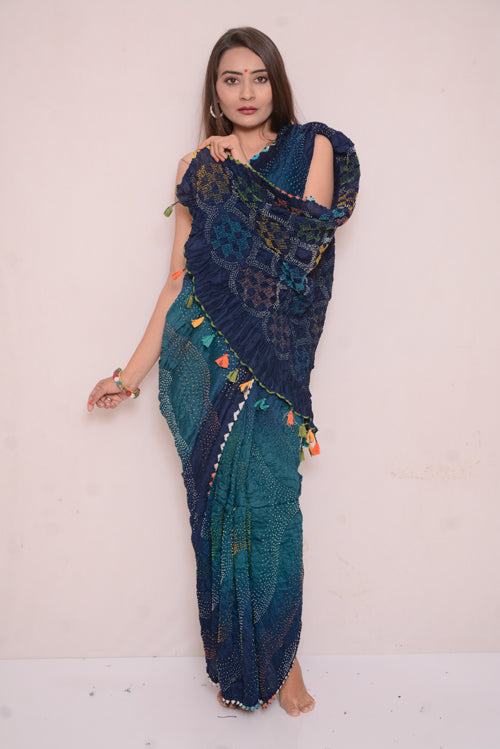 Moonga Multi Bharti Saree-22