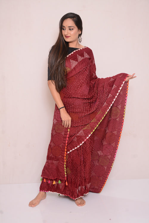 Gajji Multi Bharti Saree-27
