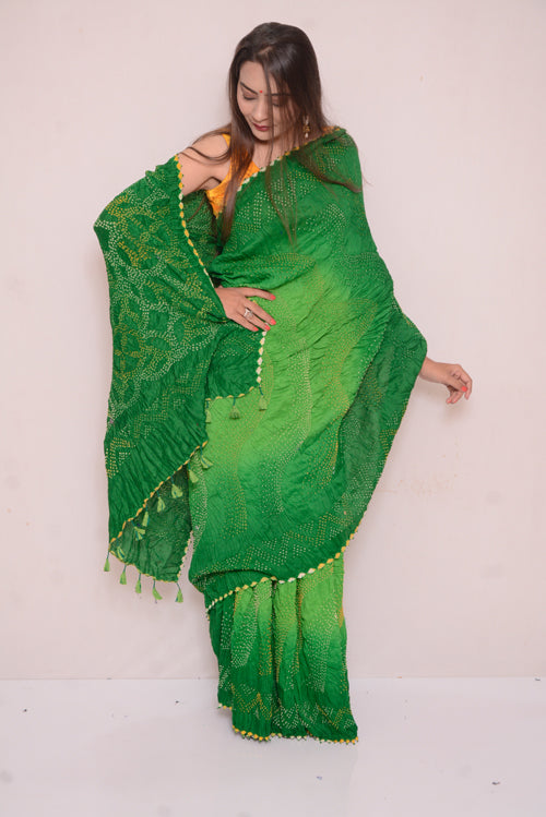Moonga Multi Bharti Saree.-30